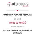 Alexandre Le Ninivin classé dans le guide Décideurs (Leader's League) 2021 en «Restructuring et entreprises en difficulté»