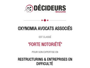 """Alexandre Le Ninivin ranked in Leader's League guide 2021 in """"Restructuring and insolvency"""""""